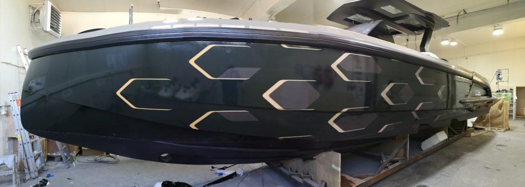 oklejanie łodzi